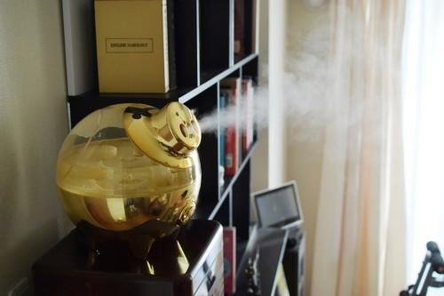 黄金のブタ加湿器