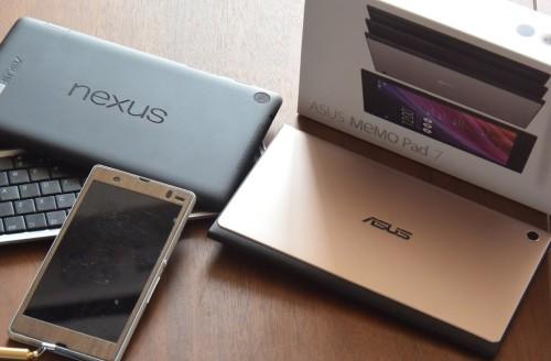 Nexus7とAsus Memo Pad7